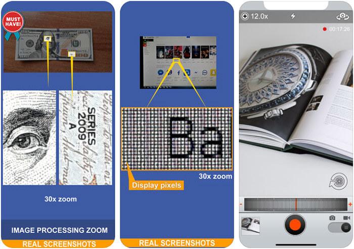 Magnifier 30x Zoom iPhone and iPad App Screenshot