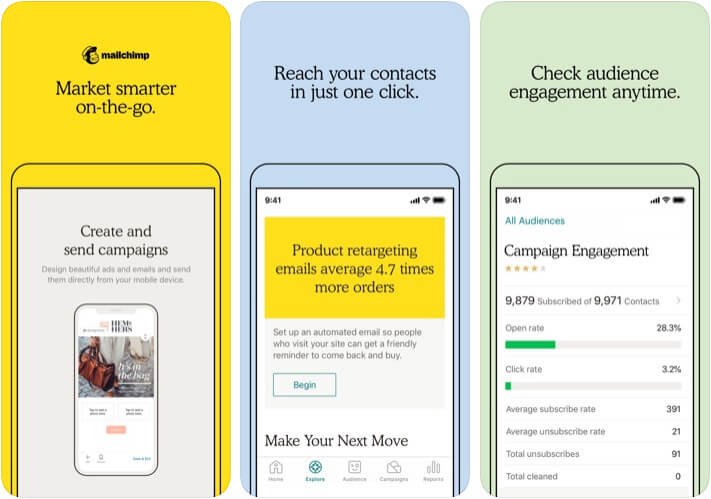 MailChimp Marketer App for iPhone and iPad