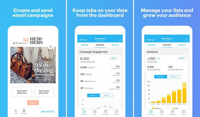 MailChimp iPhone and iPad App Screenshot