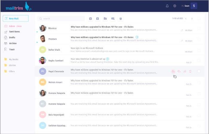 Mailtrim Email Mac App Screenshot