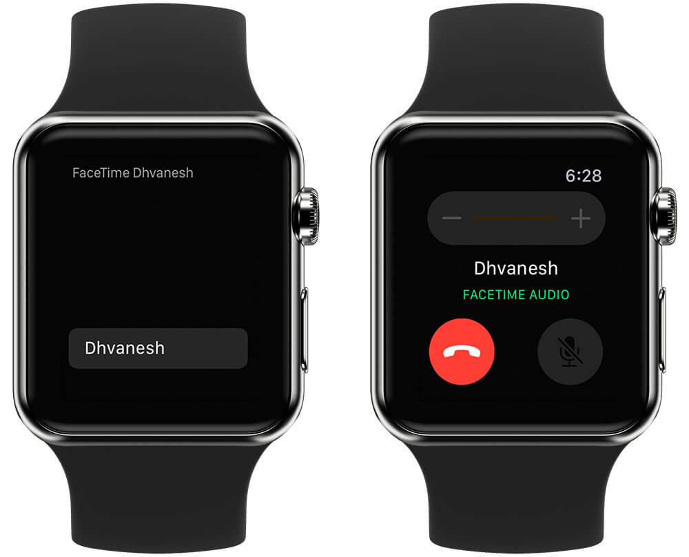 Make FaceTime Audio Call on Apple Watch