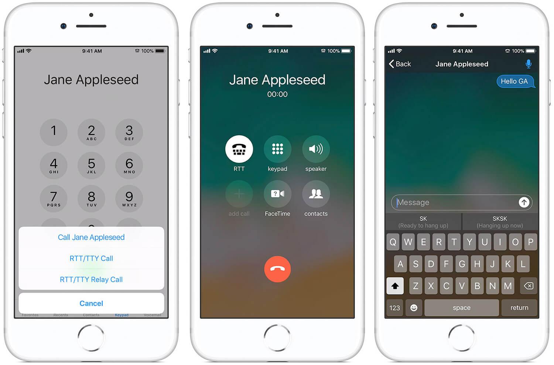 Make RTT Call on iPhone