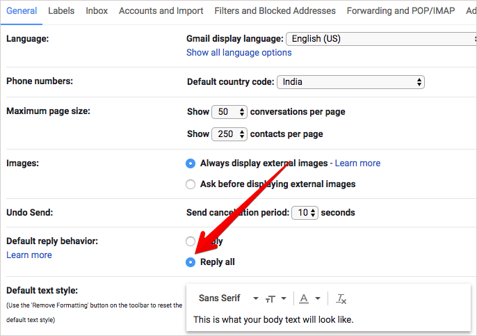 Make Reply all Default Setting in Gmail on Computer