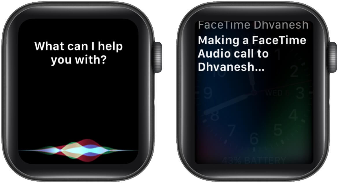 Make a FaceTime call with Siri on your Apple Watch