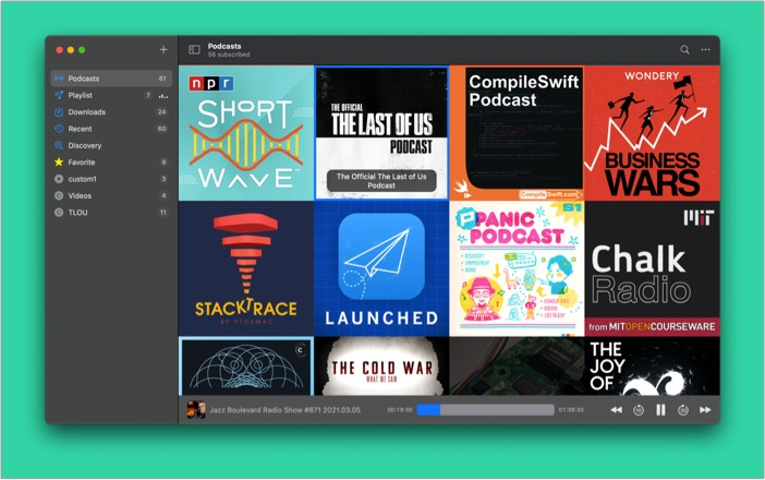 Mame Cast podcast app for Mac