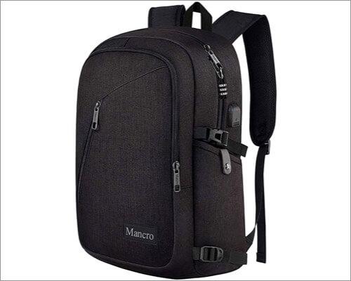Mancro business travel MacBook backpack