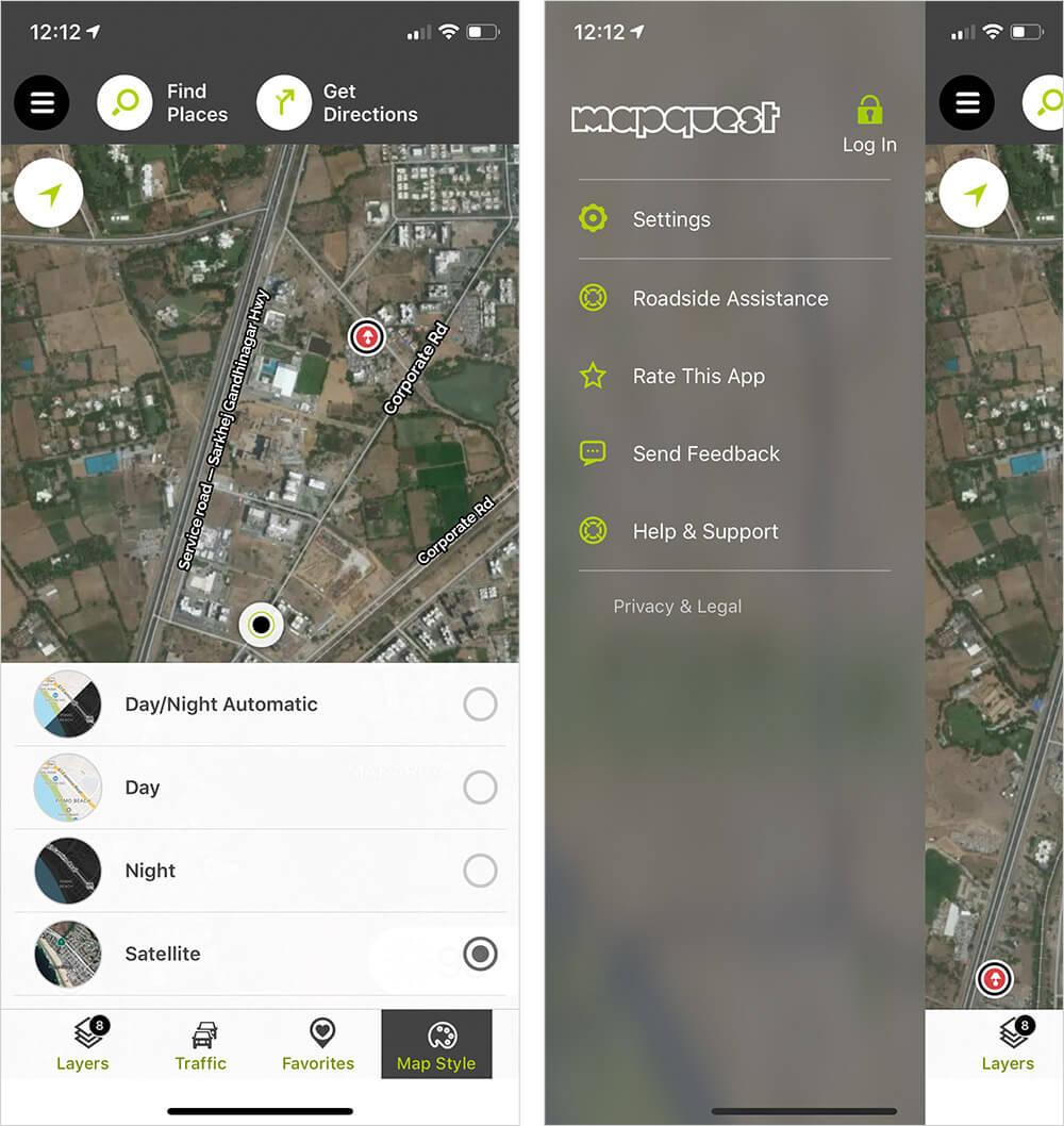 MapQuest iOS Maps App