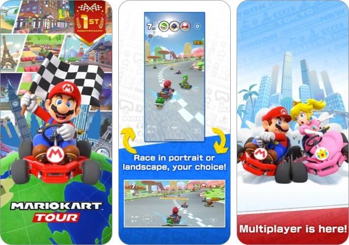 Mario Kart Tour Nintendo DS iPhone and iPad Game