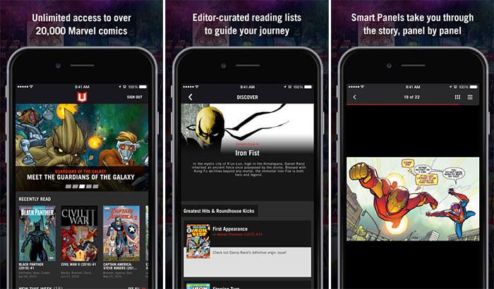 Marvel Unlimited Comics iPhone and iPad App Screenshot