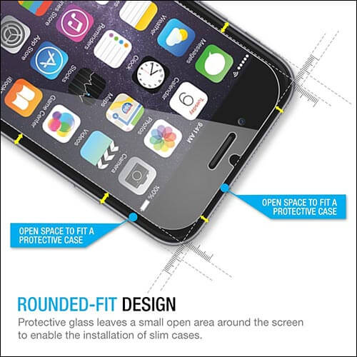 MaxBoost iPhone 6 Glass Screen Protectors