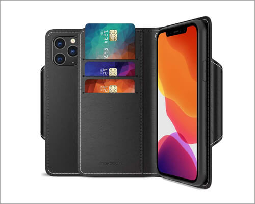 Maxboost Folio Leather Case for iPhone 11 Pro