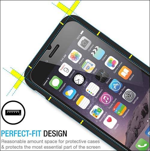 Maxboost iPhone 6 Plus Tempered Glass Screen Protector