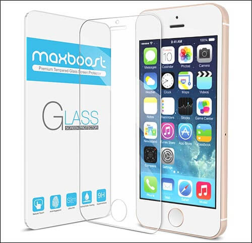 Maxboost iPhone SE Glass Screen Protector