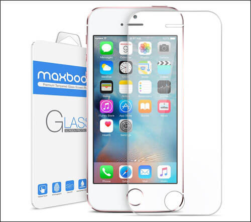 Maxboost iPhone SE Tempered Glass Screen Protector