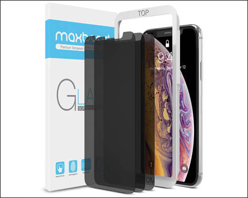 Maxboost iPhone X, XS Anti-Spy Screen Guard