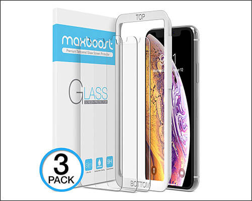Maxboost iPhone Xs Tempered Glass Screen Protector