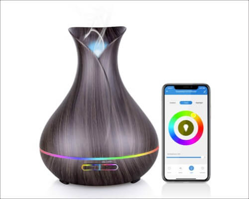 Maxcio WiFi Essential Oil Diffuser with Colorful LED Lights