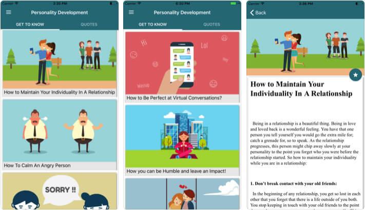 Mayur Sarang Personality Development iPhone and iPad App Screenshot