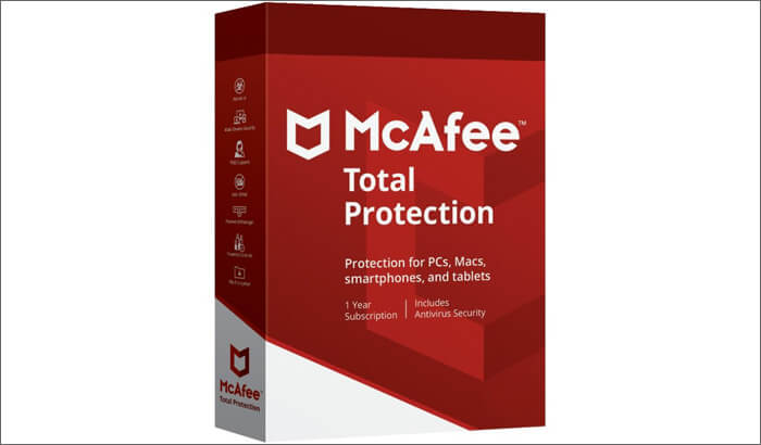 McAfee Total Protection Paid Antivirus for Mac