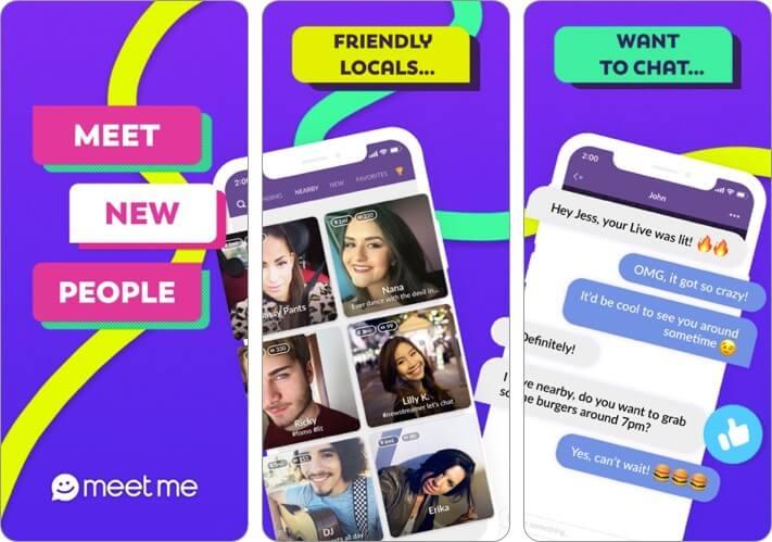 MeetMe Friendship App for iPhone Screenshot