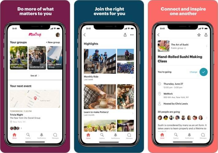 Meetup iPhone Friendship App Screenshot