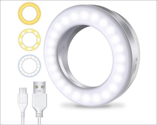 Meifigno Dimmable Selfie Ring Light For iPhone