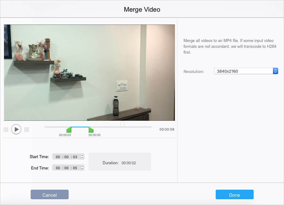 Merge Multiple Videos on Mac Using VideoProc
