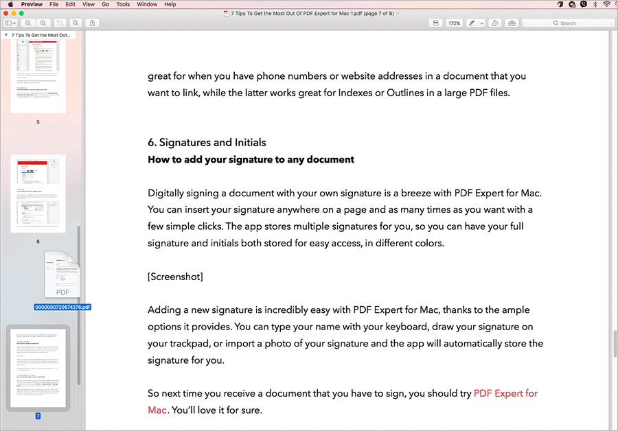 Merge PDF files on Mac Using Preview App