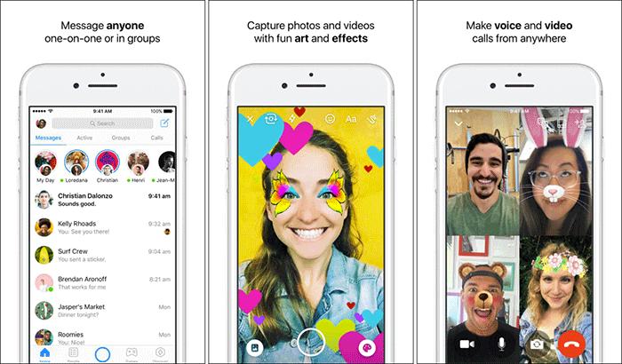 Messenger FaceTime Alternative iPhone App Screenshot