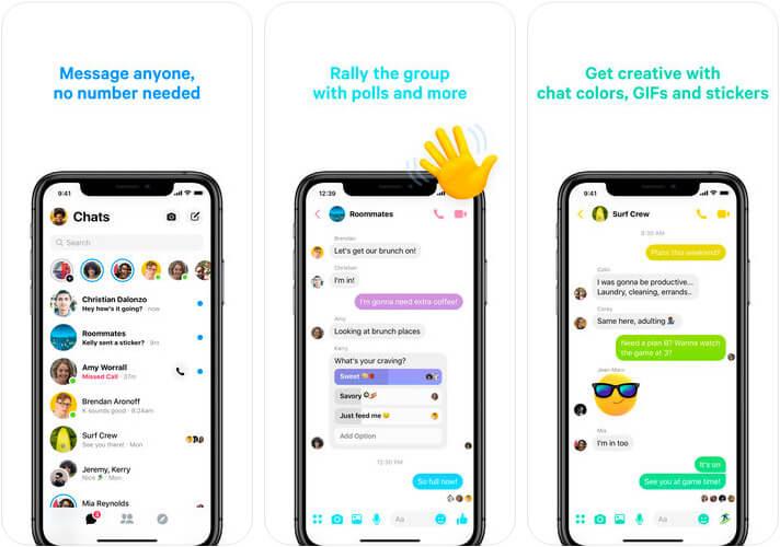 Messenger iPhone App Screenshot