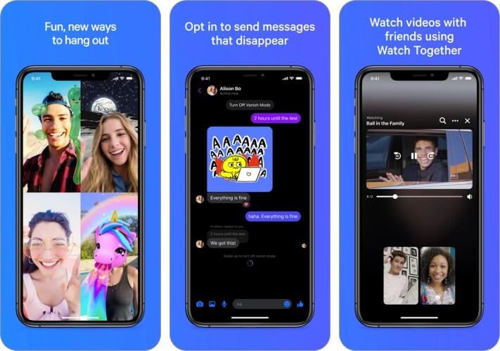 Messenger iPhone app iMessage Alternative screenshot