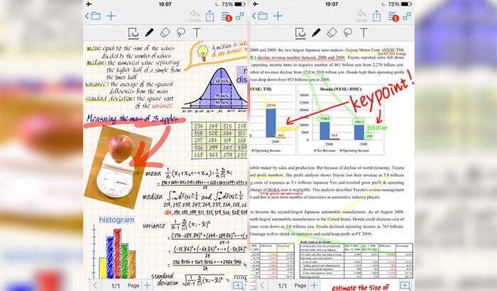 MetaMoJi Note Lite iPhone and iPad Note Taking App Screenshot