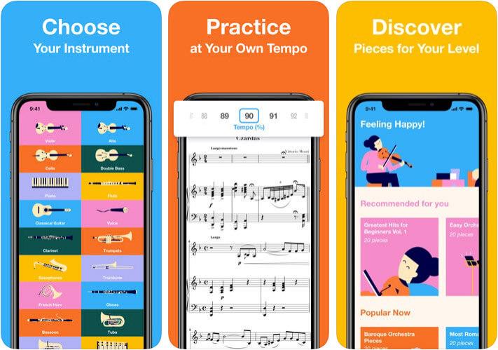 Metronaut iOS Flute Learning App Screenshot