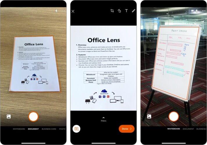 Microsoft Office Lens Document Scanner iPhone and iPad App Screenshot