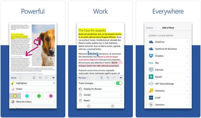 Microsoft Office iPhone App Screenshot