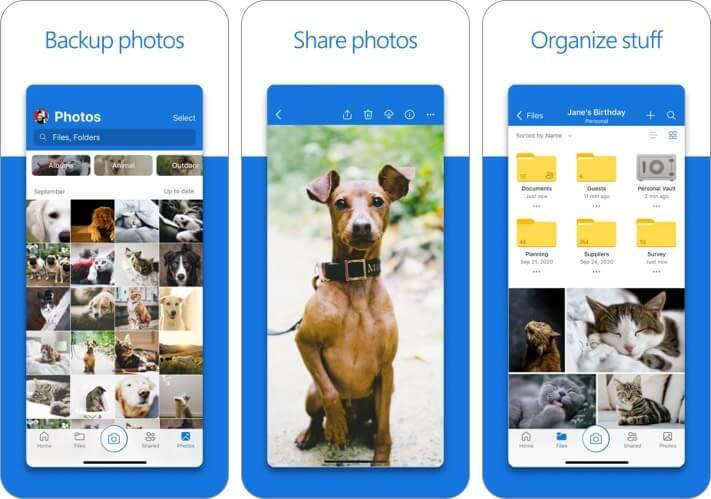 Microsoft OneDrive iPhone and iPad App Screenshot