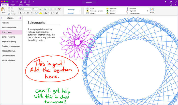 Microsoft OneNote Mac App Screenshot