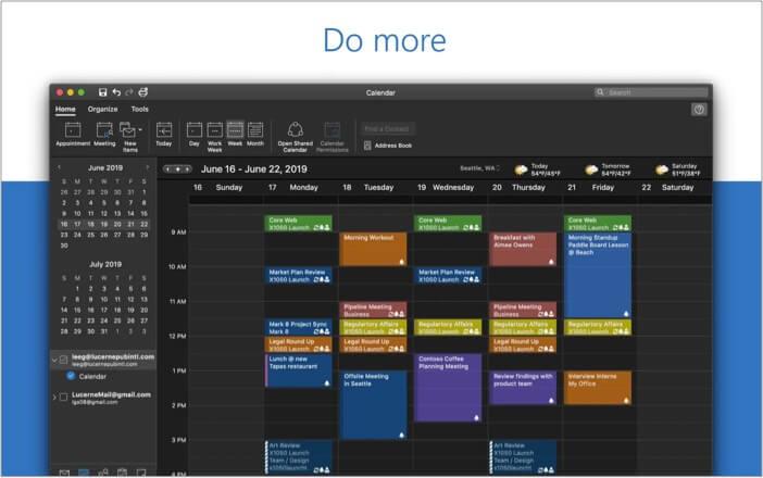 Microsoft Outlook best calendar app for Mac