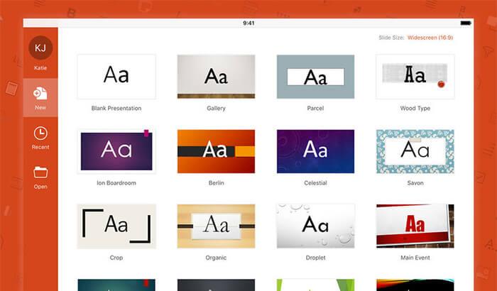 Microsoft PowerPoint iPad App Screenshot