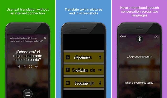 Microsoft Translator iPhone App Screenshot