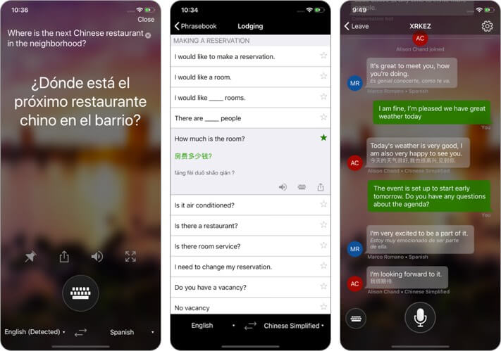 Microsoft Translator iPhone and iPad App Screenshot