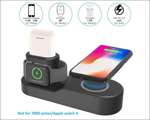 Milletech Wireless Charging Pad for iPhone, Apple Watch, AirPods