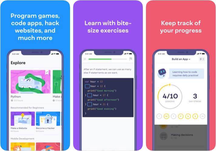 Mimo iPhone and iPad Coding Learnign App Screenshot