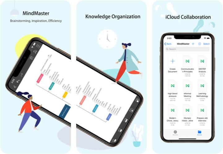 MindMaster MindMapping iPhone and iPad App Screenshot