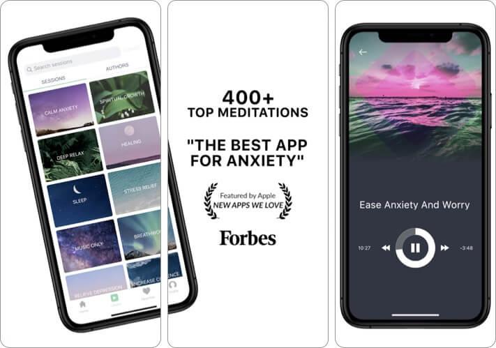 Mindbliss Meditation iPhone and iPad App Screenshot