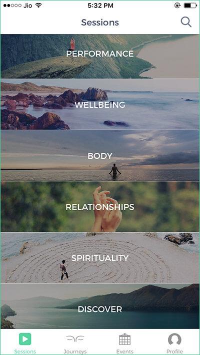 Mindbliss Meditations iPhone App Categories