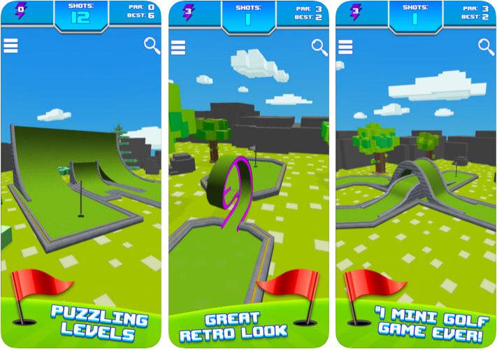 Mini Golf Star Retro Golf Game iPhone and iPad Screenshot