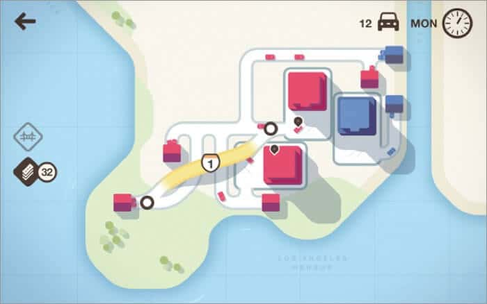 Mini Motorways Mac strategy game Screenshot
