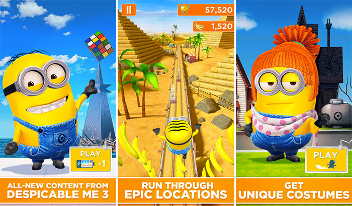 Minion Rush iPhone and iPad App Screenshot