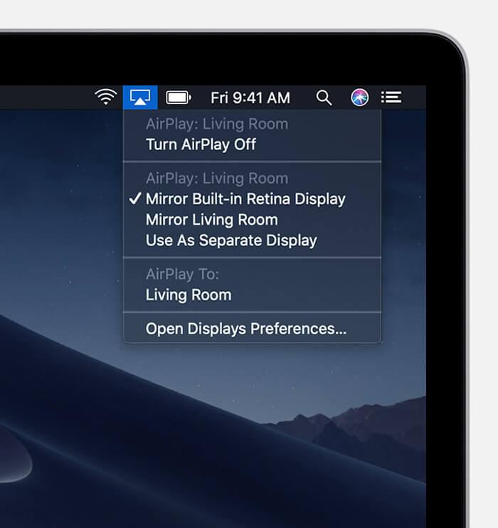 Mirror your Mac screen to Apple TV